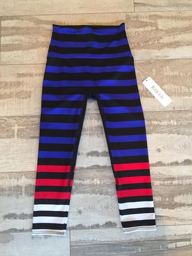 K-Deer Red White Blue Stripe Capri
