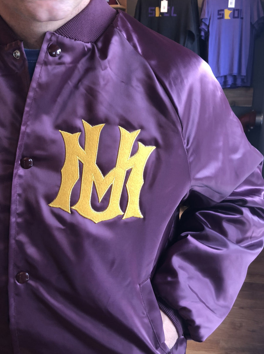 U of M Vintage Satin Jacket