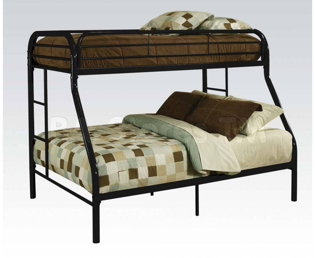 BLACK TWIN/QUEEN BUNK BED /02052BK