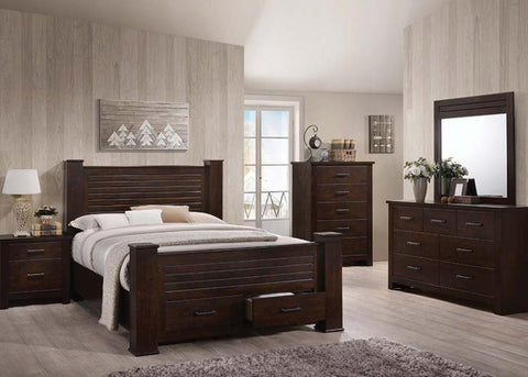4pc Panang bedroom Set / BED,DRESSER, MIRROR , 1 NIGHTSTAND / 23364