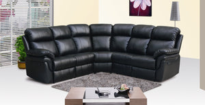 Frankfurt Sectional Sofa with Two Recliners /8005Black