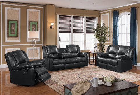 8031-S Black Reclining Sofa SEAT