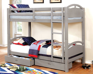 BEJA TWIN/TWIN BUNK BED W/ 2 DRAWERS