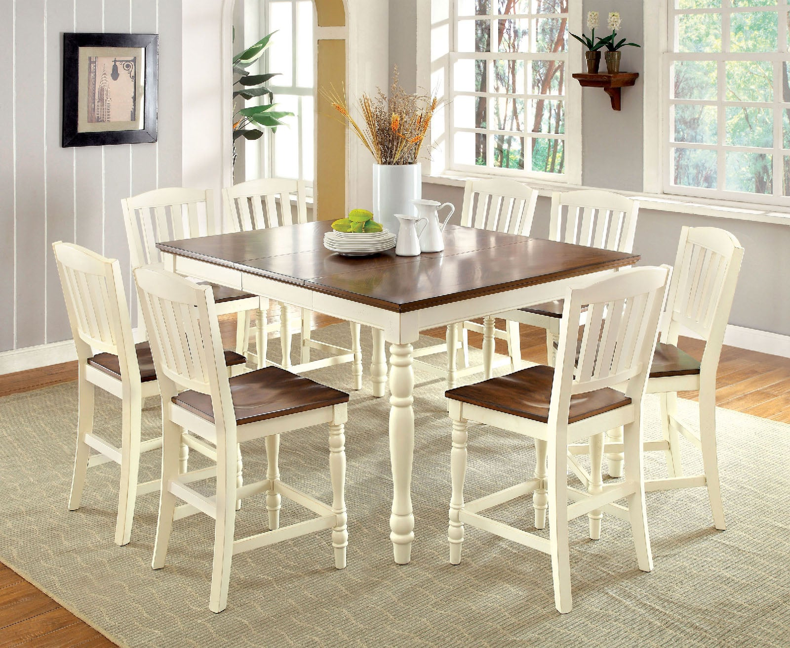 HARRISBURG II / 7PC COUNTER HT. TABLE SET