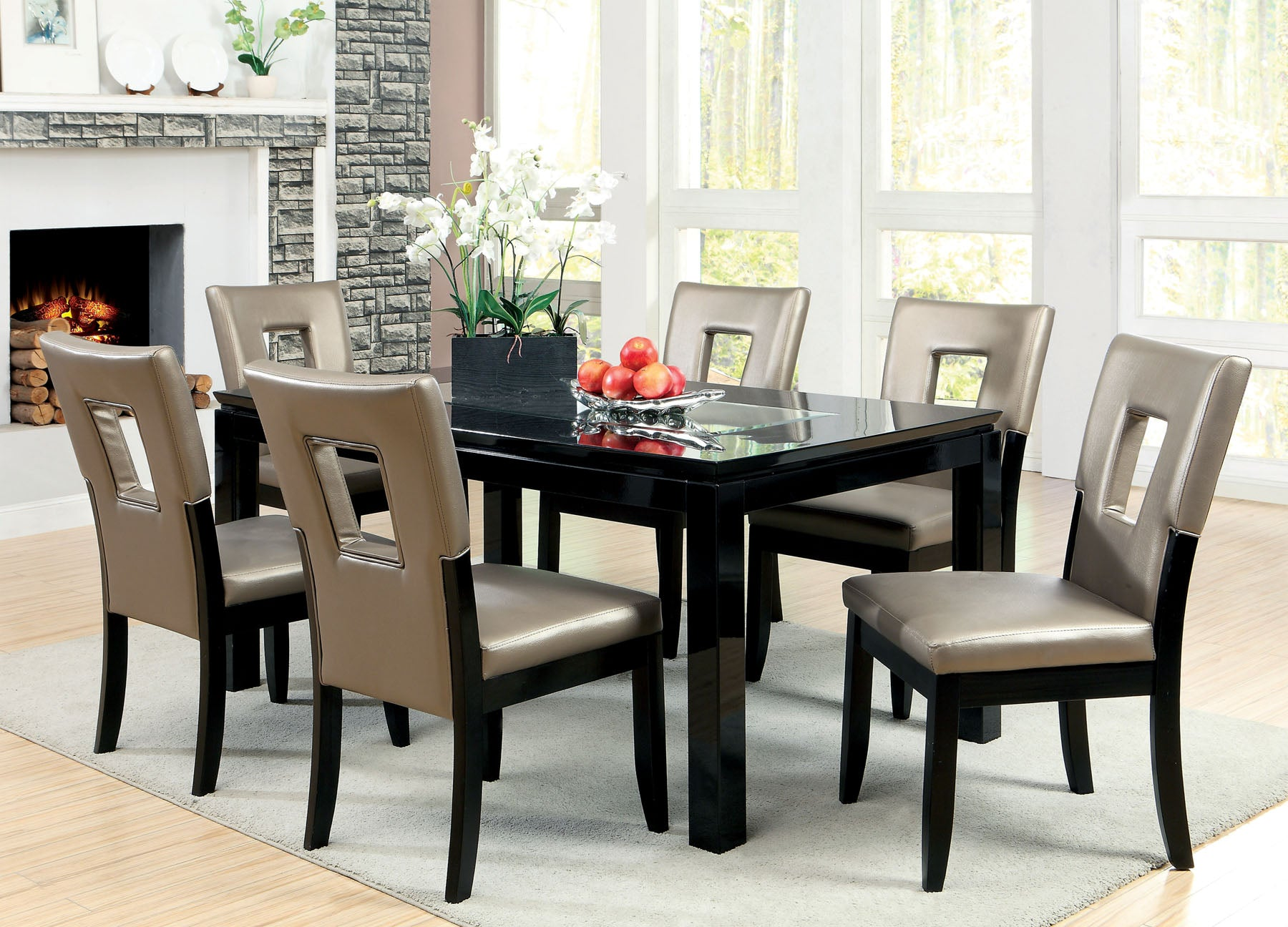 EVANT I / 7PC DINING TABLE SET  CM3320T