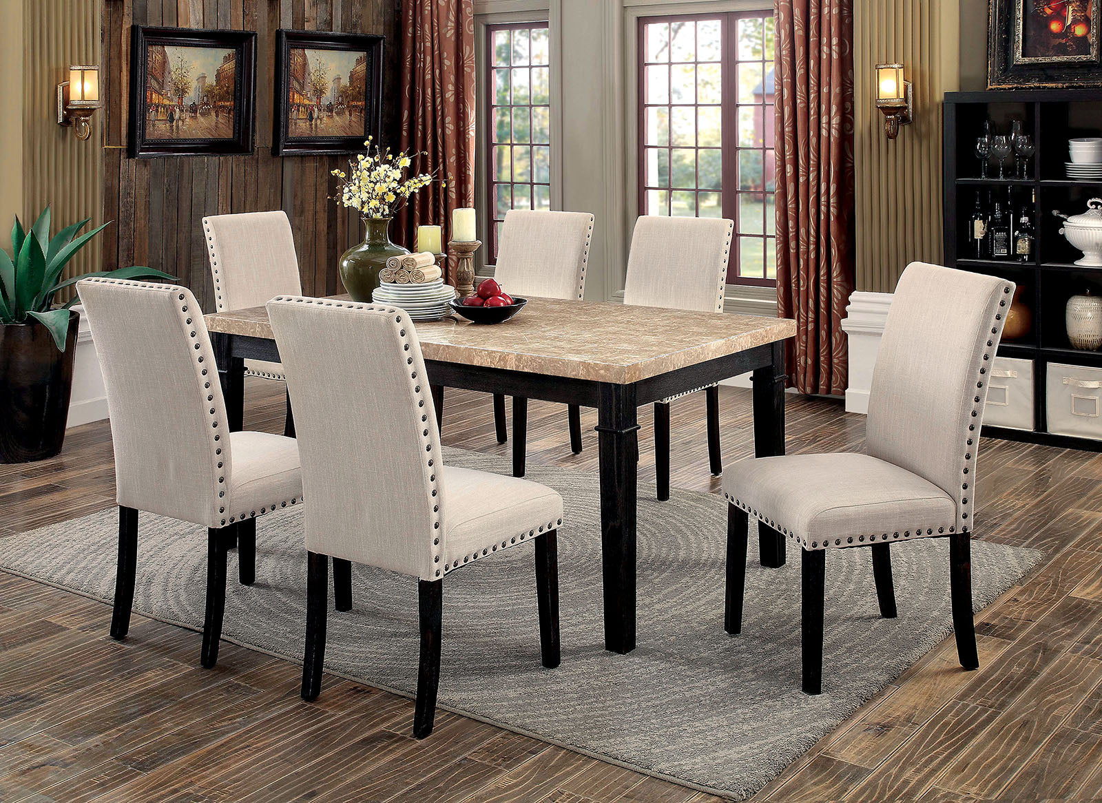 DODSON I  / 7PC / DINING TABLE  SET CM3466T
