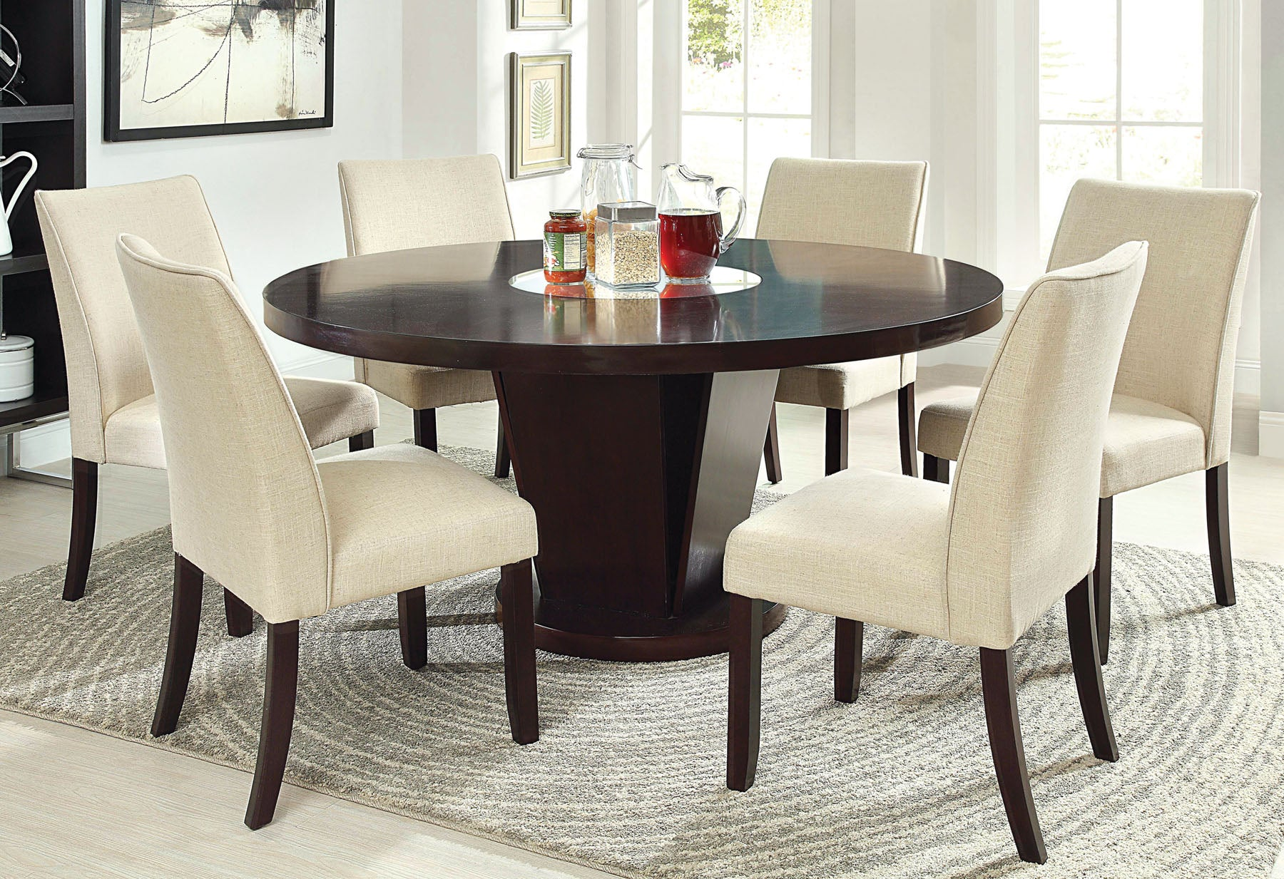 CIMMA ROUND  /  7PC DINING TABLE  SET    CM3556T