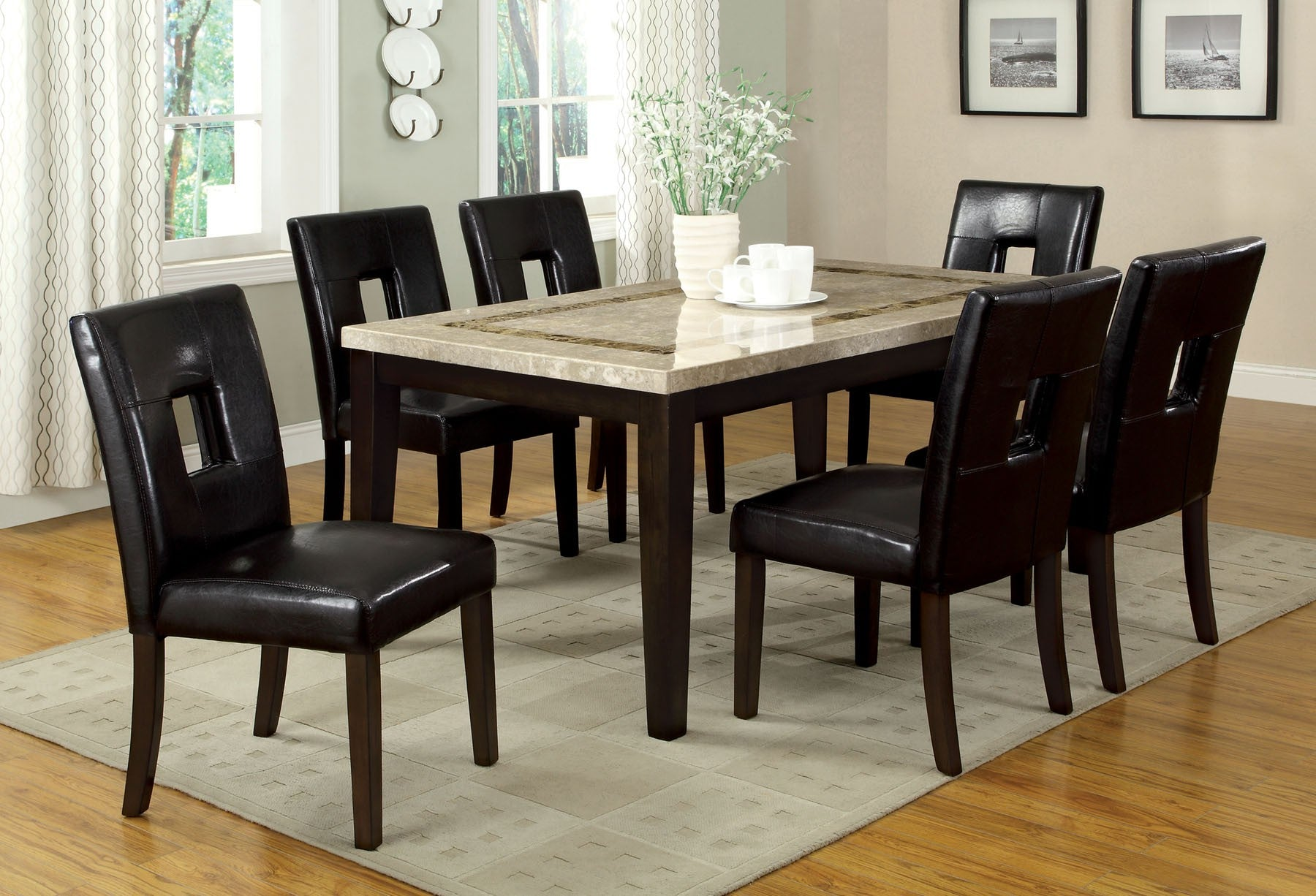 LISBON I 7PC / DINING TABLE SET/   CM3693