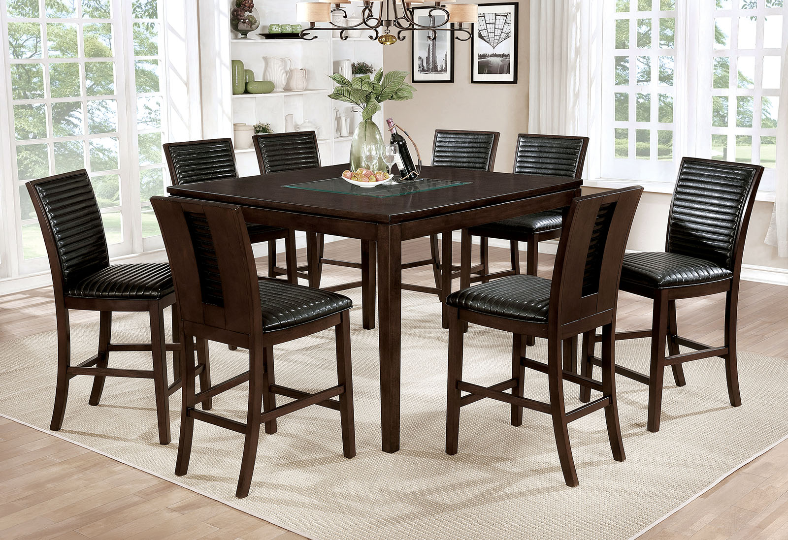 JENESSA / 7PC COUNTER HT. TABLE  SET