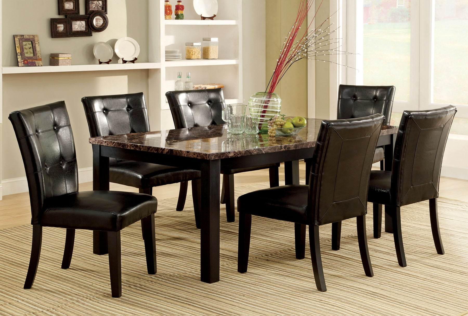 ATLAS I  7PC / DINING TABLE SET  CM3188T-60 / RT-40