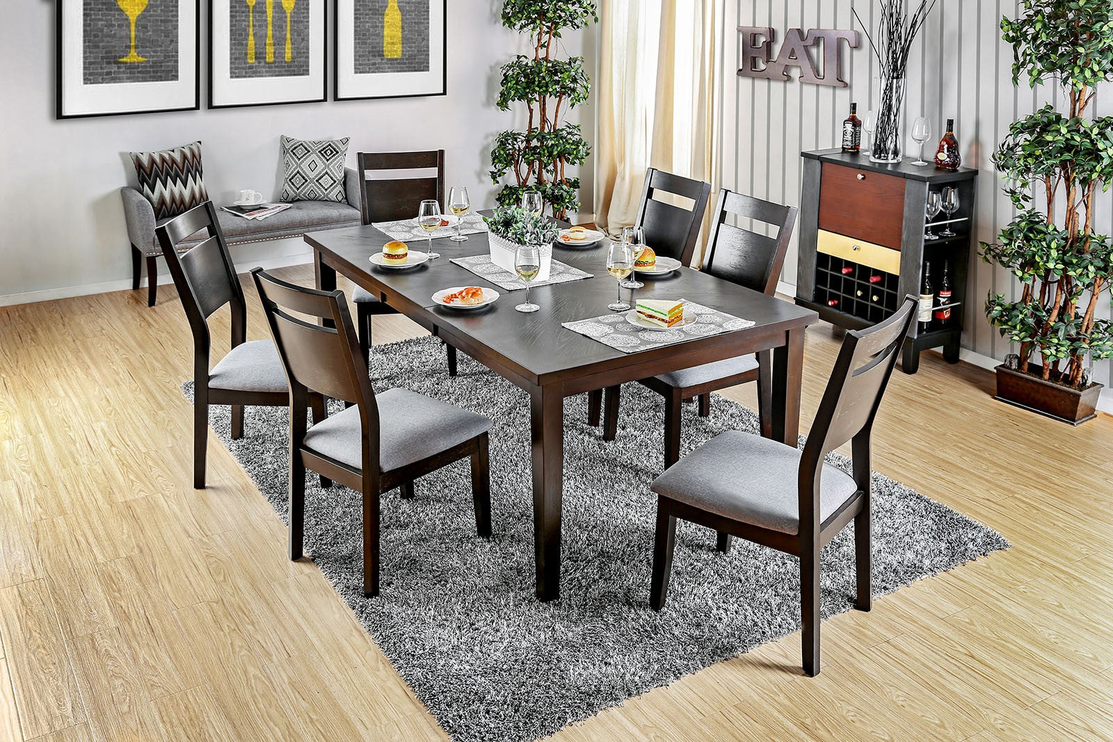 JOINVILLE I  / 7PC  DINING TABLE SET    /     CM3985T