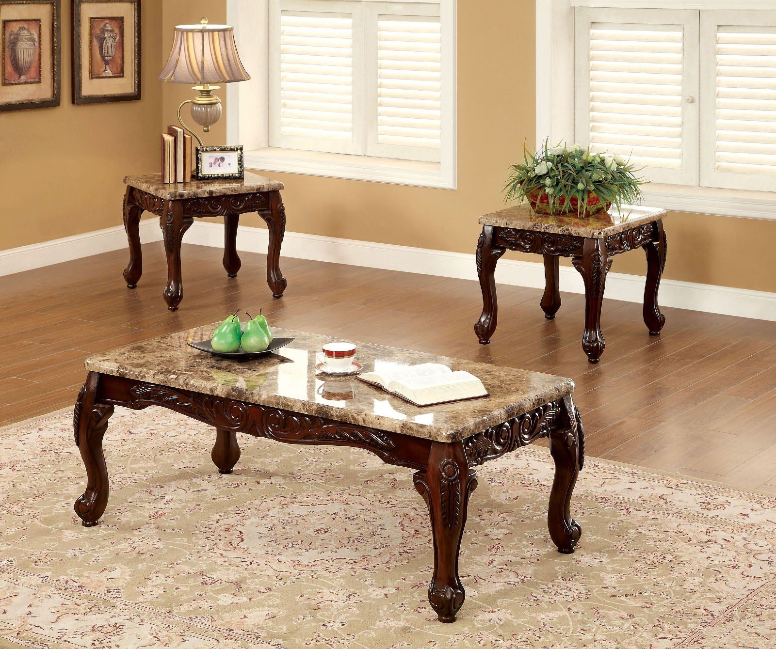 LECHESTER  3 PC. TABLE SET    /   CM4487-3PK
