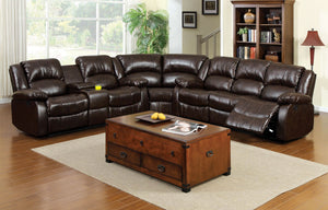 WINSLOW Reclining sectional w/ Cup Holders & Storage