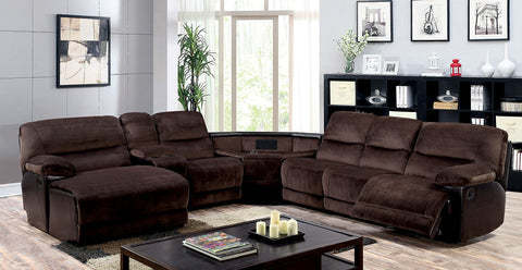 Reclining sectional w/ Cup Holders & Storage