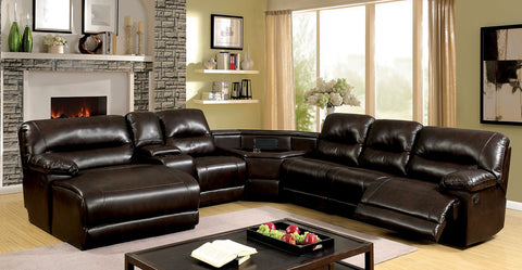 GLASGOW RECLINING ECTIONAL W/Cup Holders & Storage