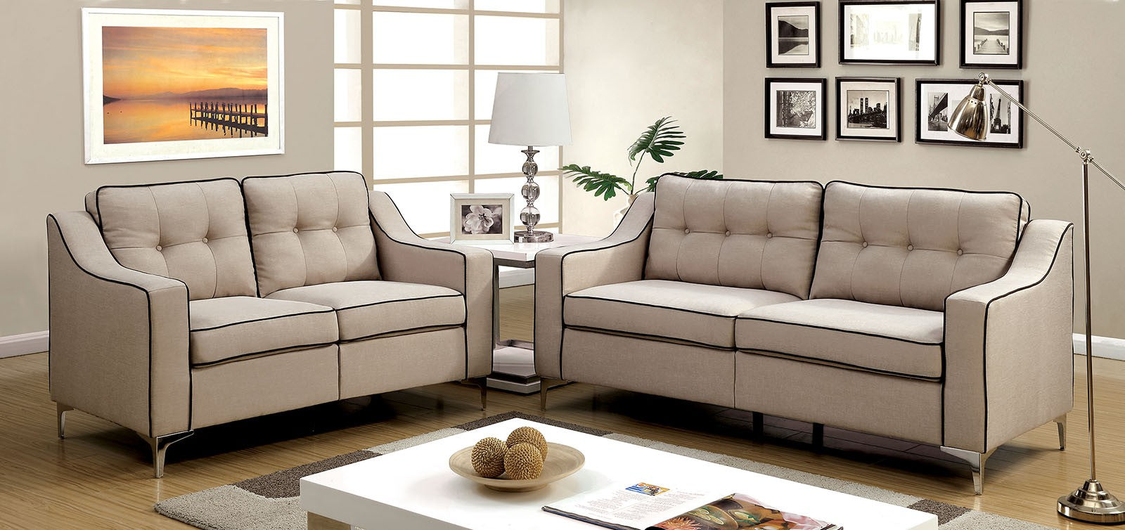 GLENDA 2PC SOFA & LOVESEAT SET
