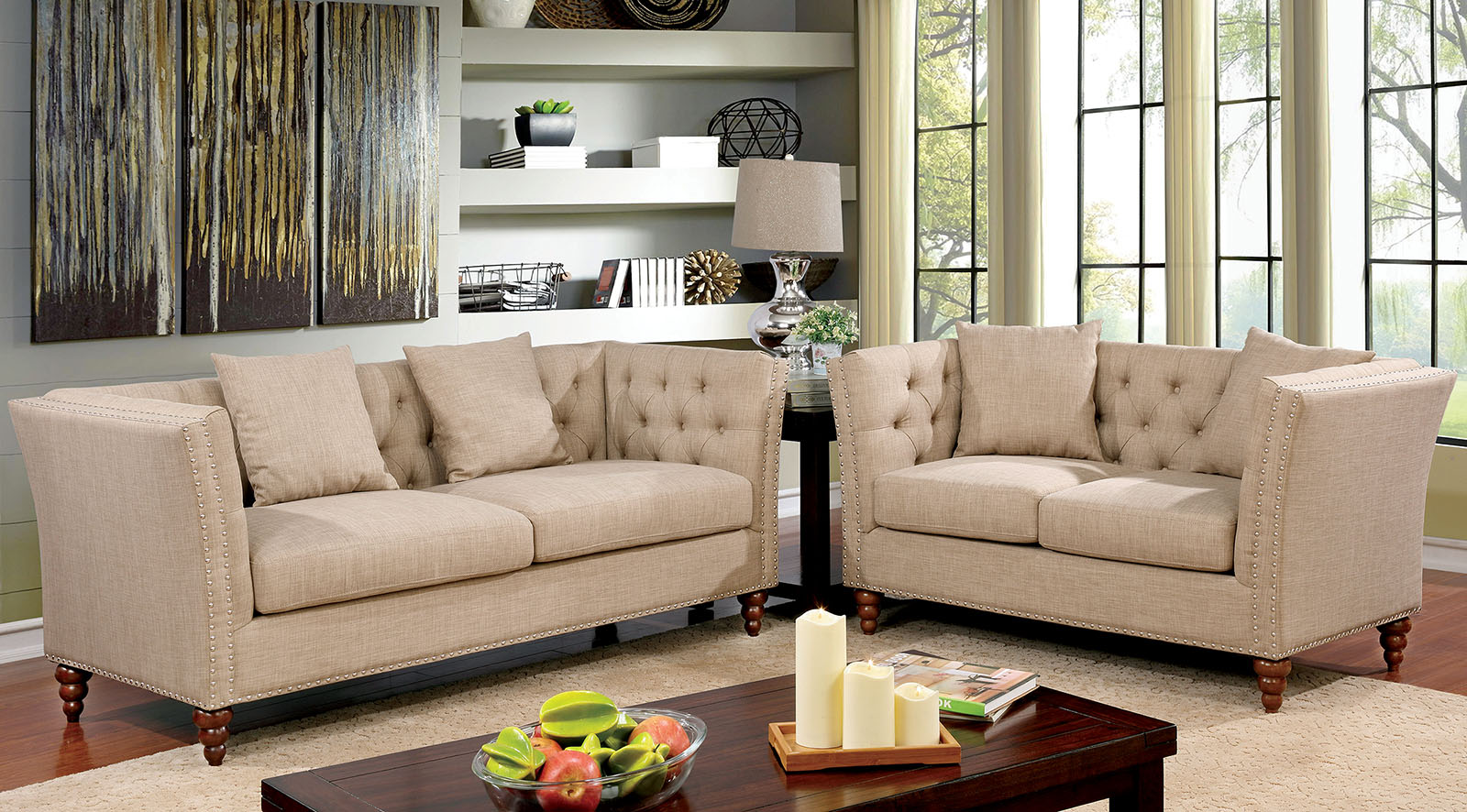 IMANI 2PC SOFA & LOVE SEAT