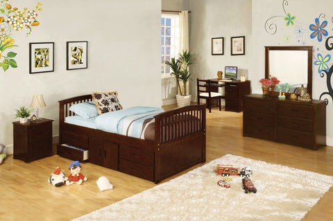 CABALLERO BED W/  4 Drawers & Storage / CM7032