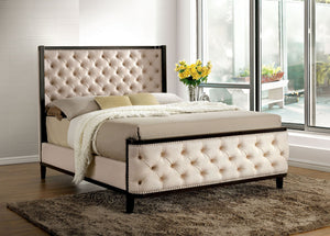CHANELLE BED Button-tufted Padded Fabric CM7210