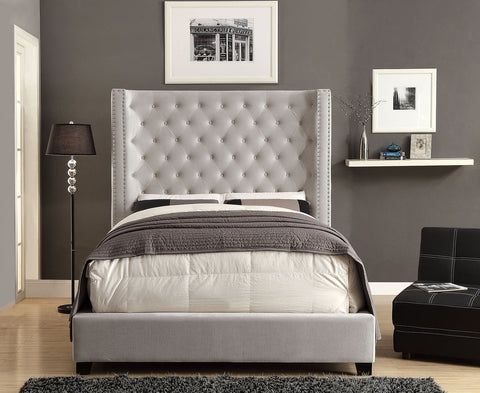 MIRABELLE BED  Button Tufted H/B w/ Nailhead Trim   CM7679IV