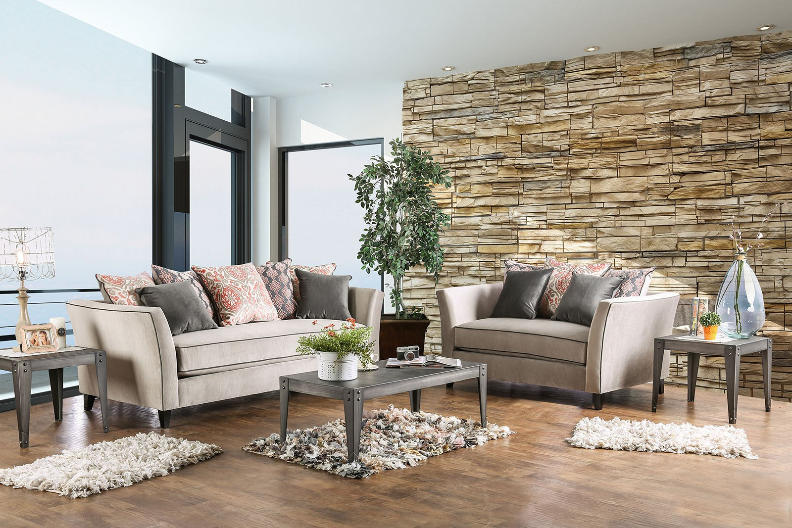 CHANTAL 2PC SOFA & LOVESEAT SET