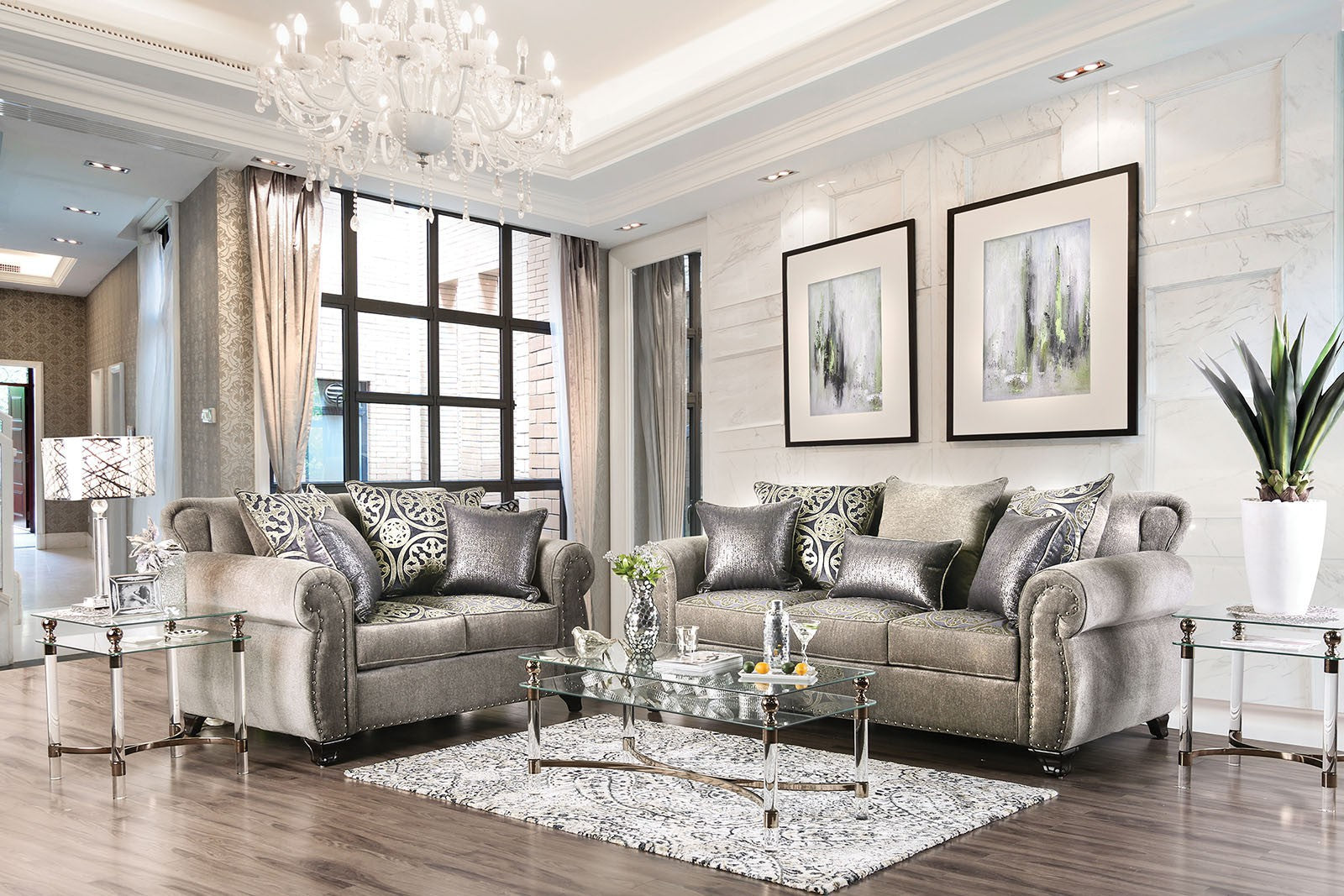 SINATRA  2PC SOFA & LOVESEAT SET