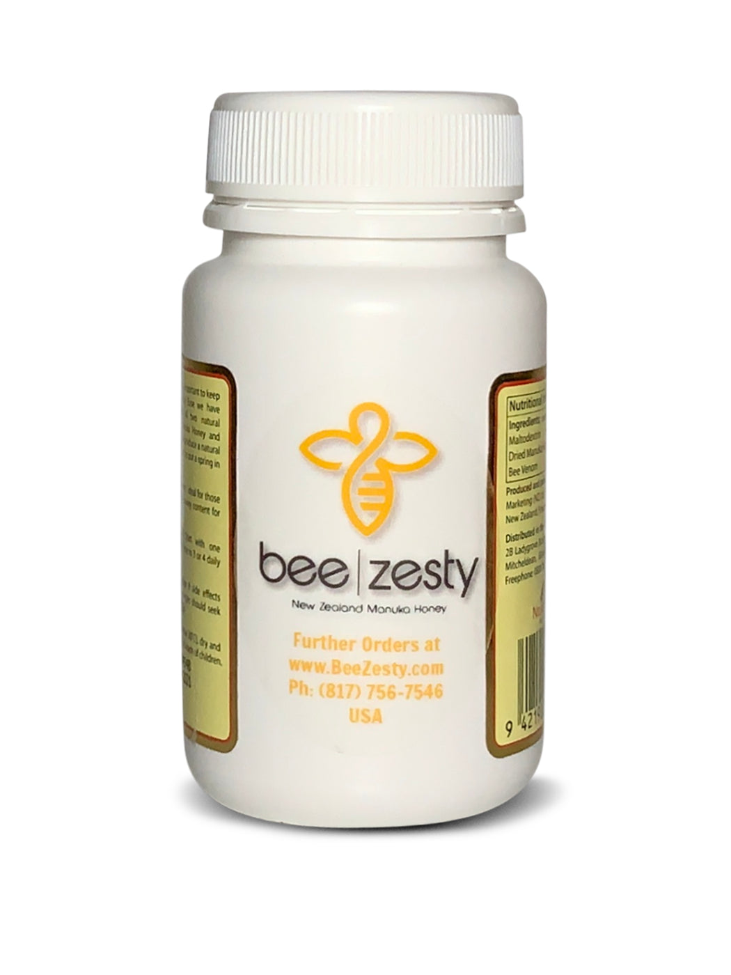 Nectar Ease Capsules, with Added Bee Venom, Genuine New Zealand non-GMO