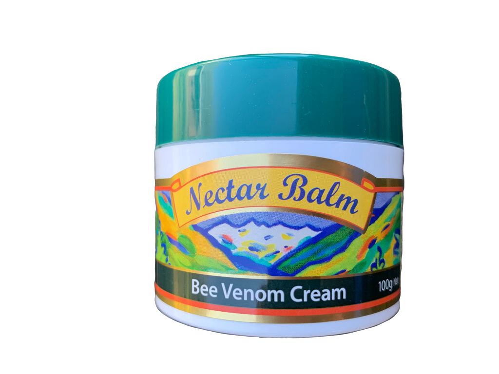 Nectar Balm, essential and cold-pressed oils, with Manuka honey and added Bee Venom,