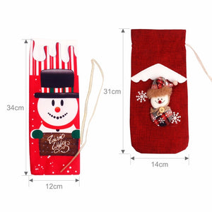 Chrismas Holiday Large Bottle Gift Bags Or Decorations