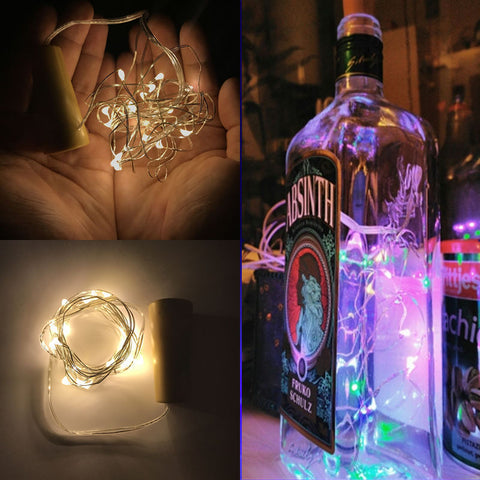 Image of LED Garland Copper Wire String Lights For Glass DIY Craft Decoration - Hot Gifts For Christmas