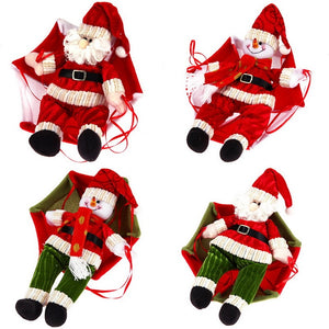 Parachuting Santa Claus/Snowman Ceiling Christmas Decorations