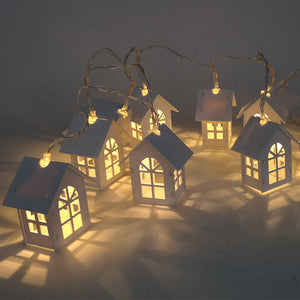 10pcs LED House Style Christmas Light String Garland