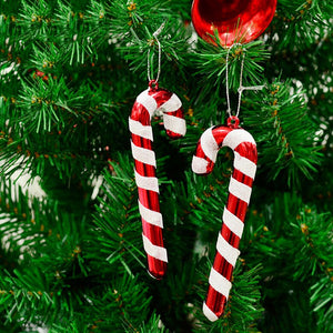 6 Pcs/lot Christmas Candy Cane Ornaments
