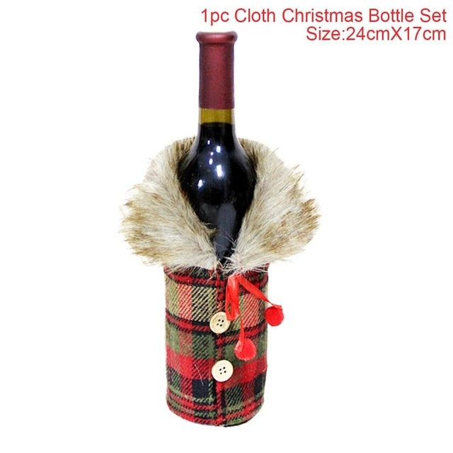 Chrismas Holiday Large Bottle Gift Bags Or Decorations - Hot Gifts For Christmas