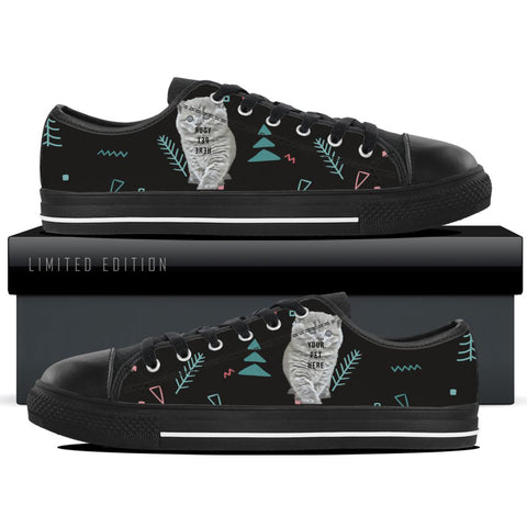 Custom Women's Black Low Tops