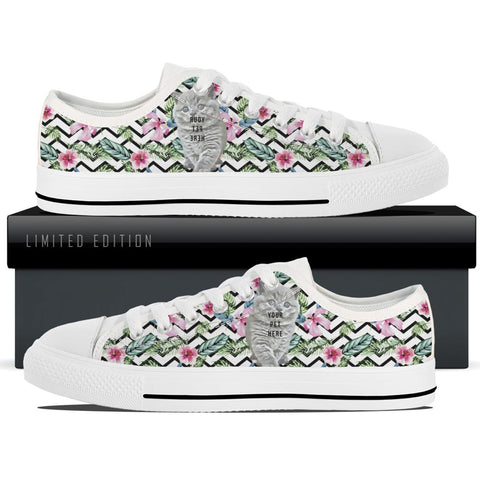 Custom Women's White Low Tops