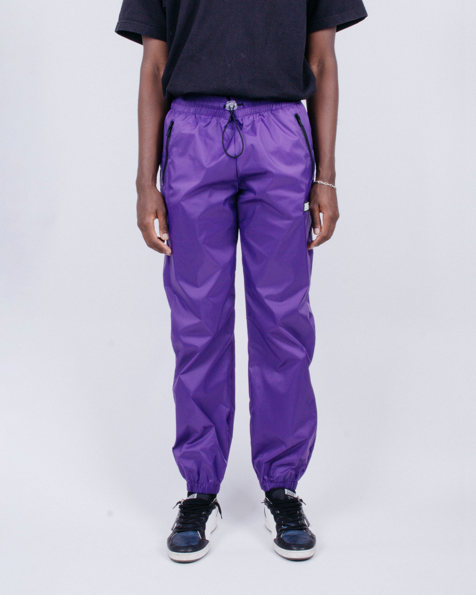 Load image into Gallery viewer, Nylon Running Pants Purple | CHECKS DOWNTOWN