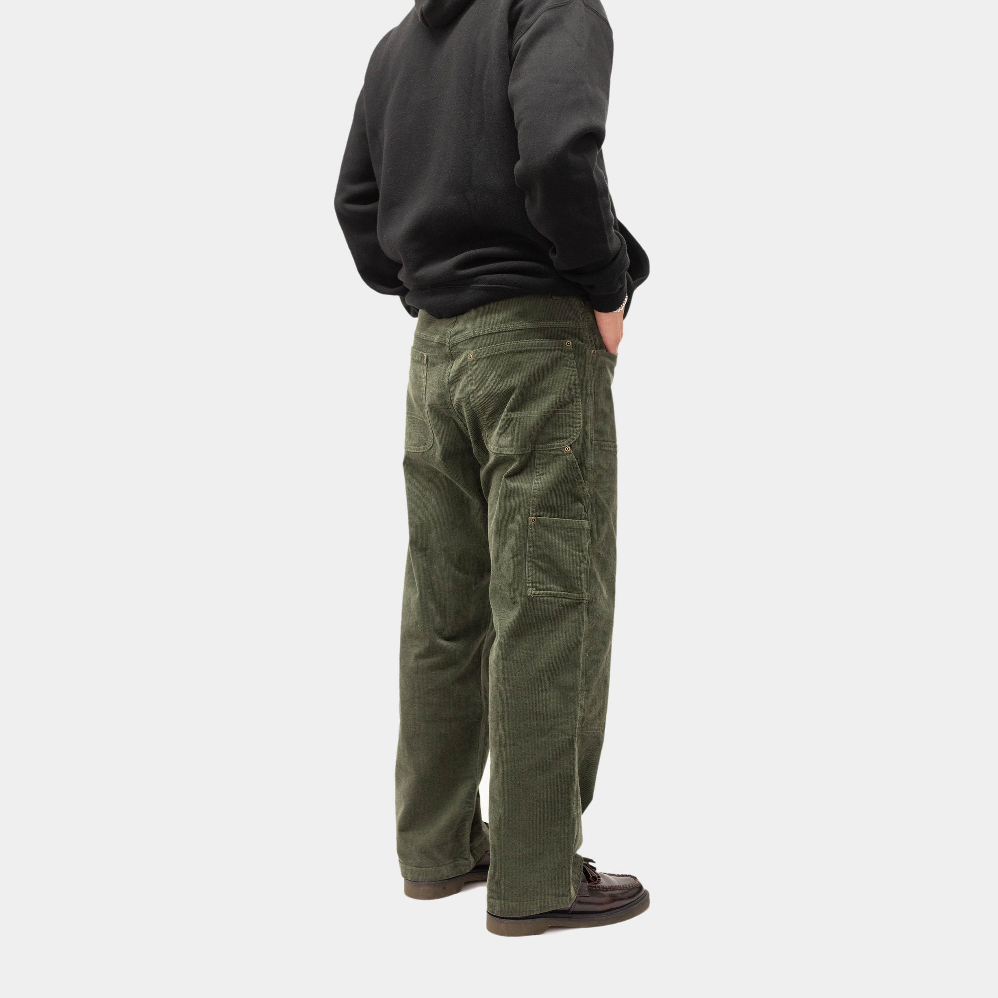 Load image into Gallery viewer, Corduroy Carpenter Pants Moss | CHECKS DOWNTOWN