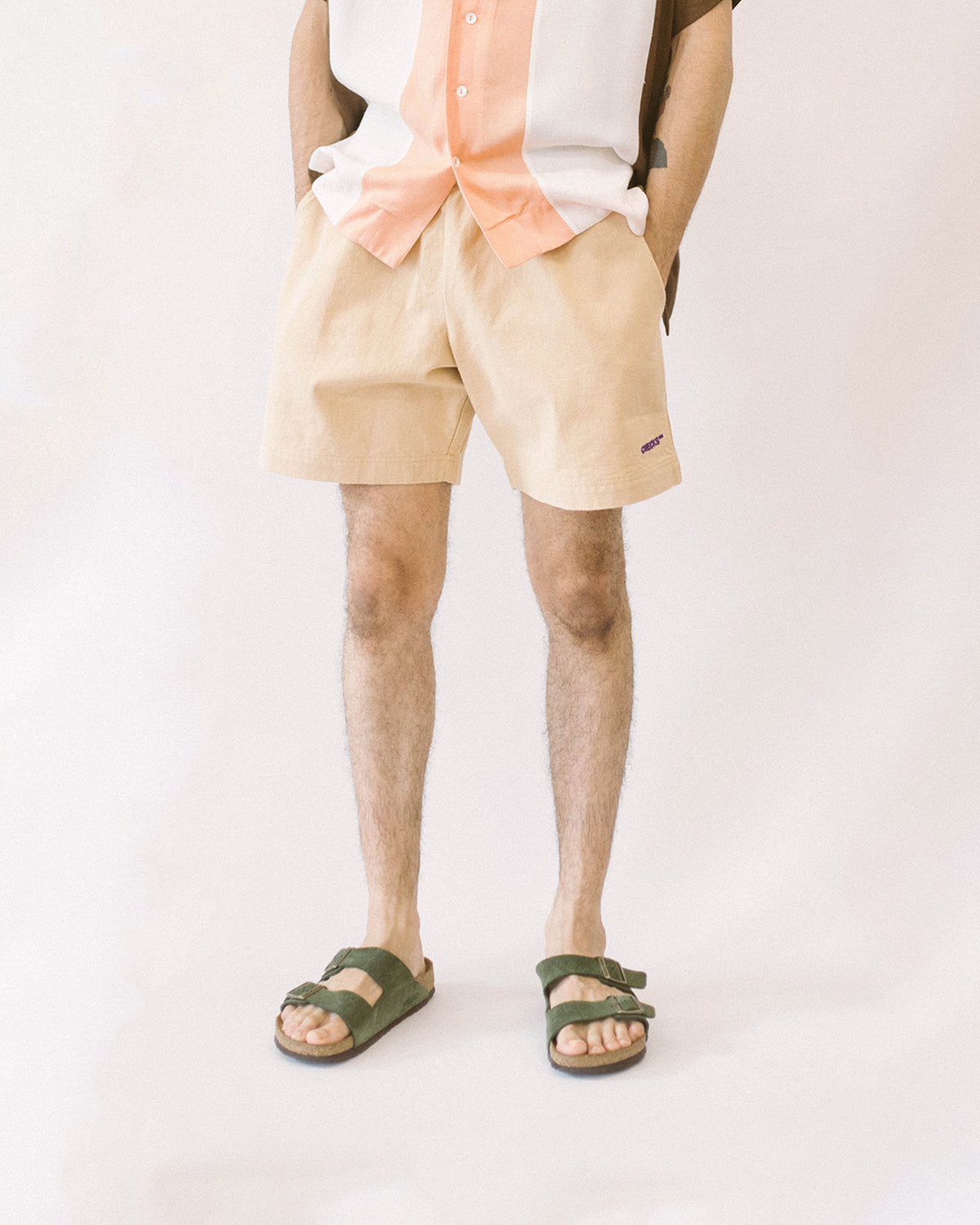 Easy Drill Shorts Khaki | CHECKS DOWNTOWN