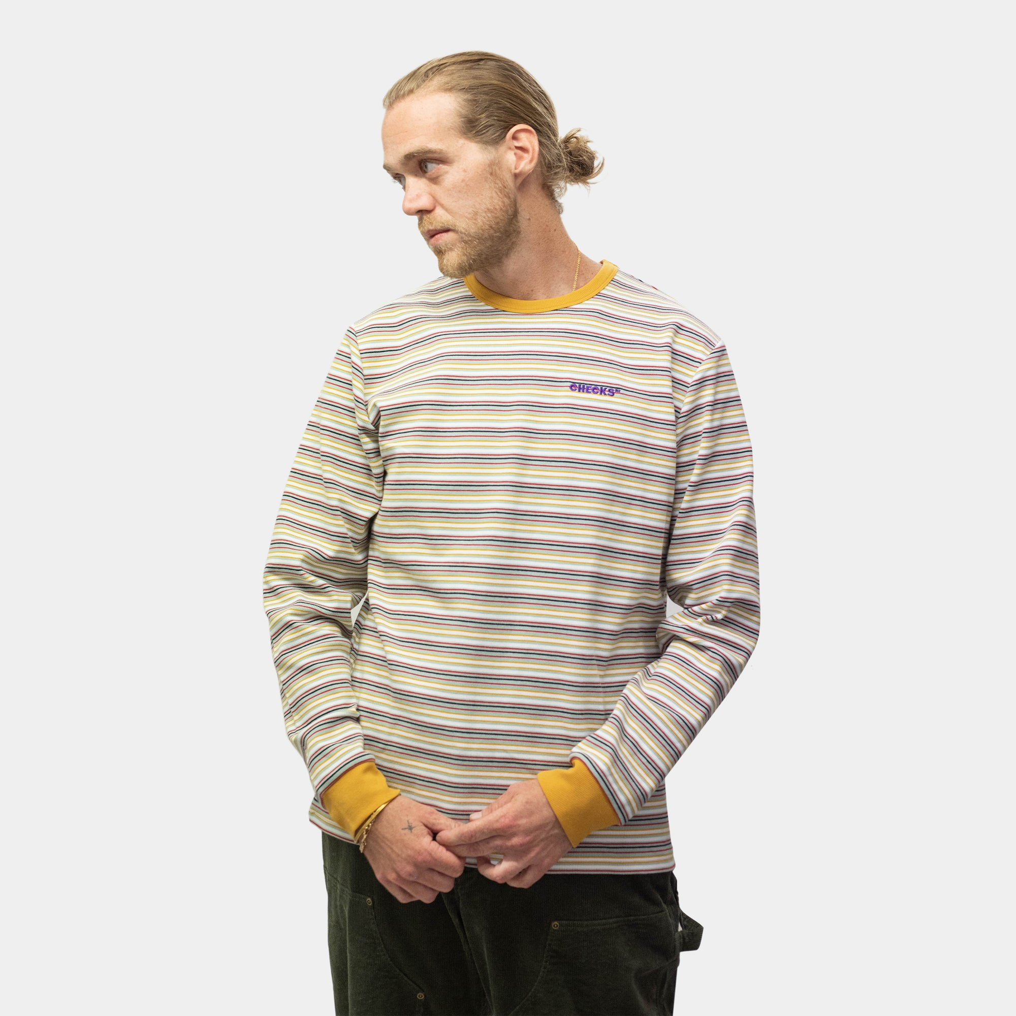 Load image into Gallery viewer, Striped Long-sleeve Top Seafoam | CHECKS DOWNTOWN