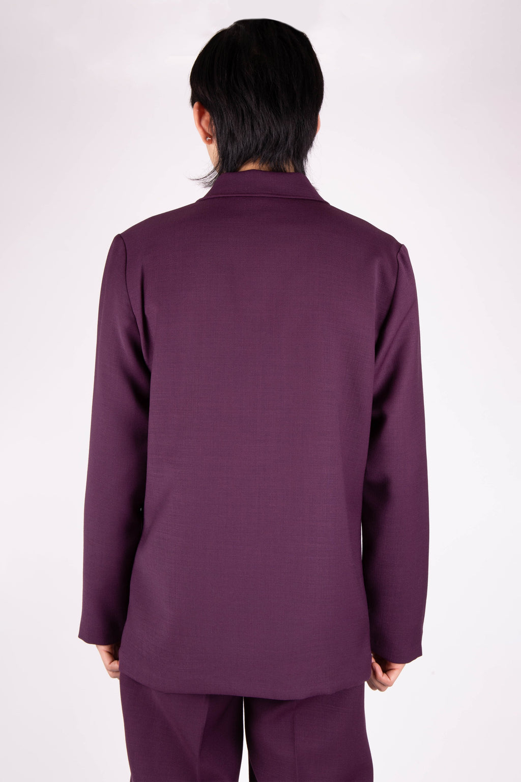 Box Jacket Aubergine Wool | CHECKS DOWNTOWN