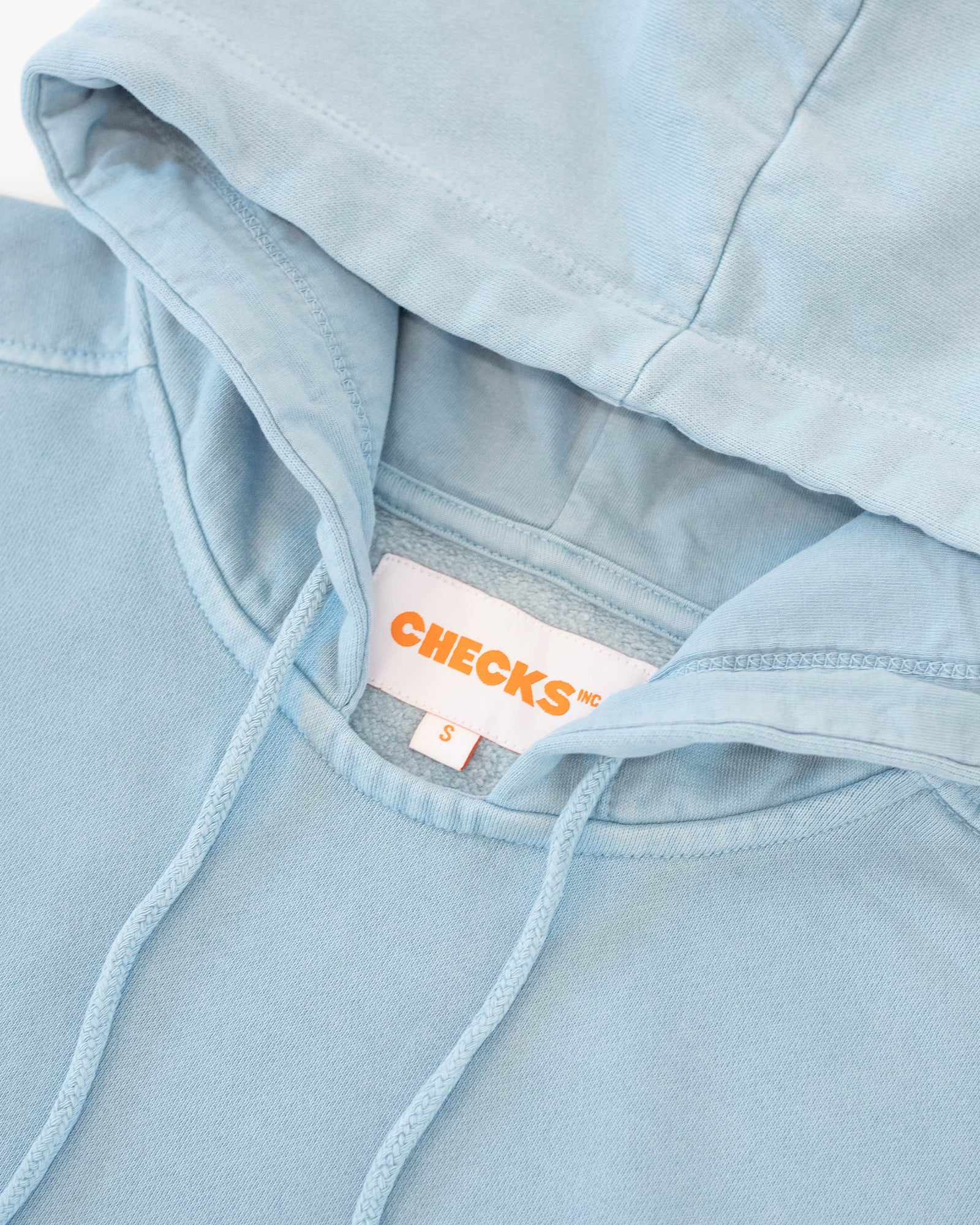Load image into Gallery viewer, Natural Dyed Hoodie Powder Blue | CHECKS DOWNTOWN