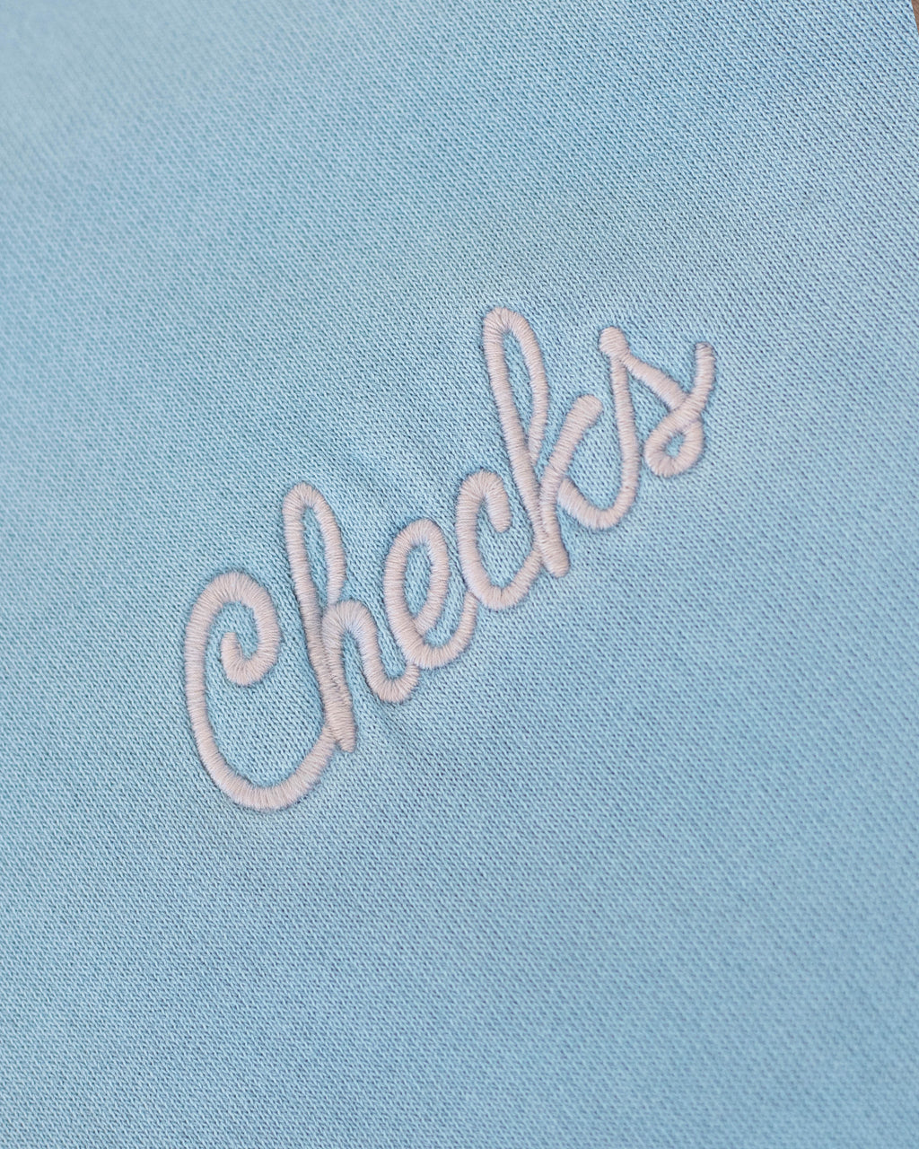 Natural Dyed Hoodie Powder Blue | CHECKS DOWNTOWN