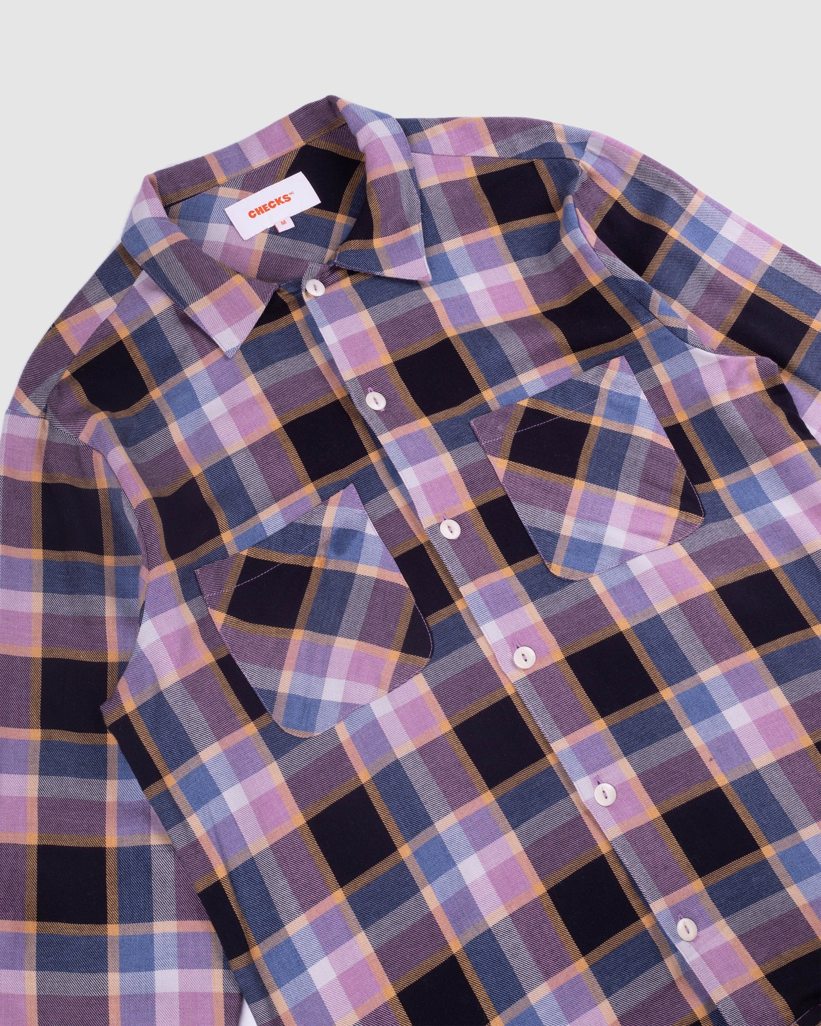 Load image into Gallery viewer, 50s Flannel Shirt Violet/Indigo | CHECKS DOWNTOWN