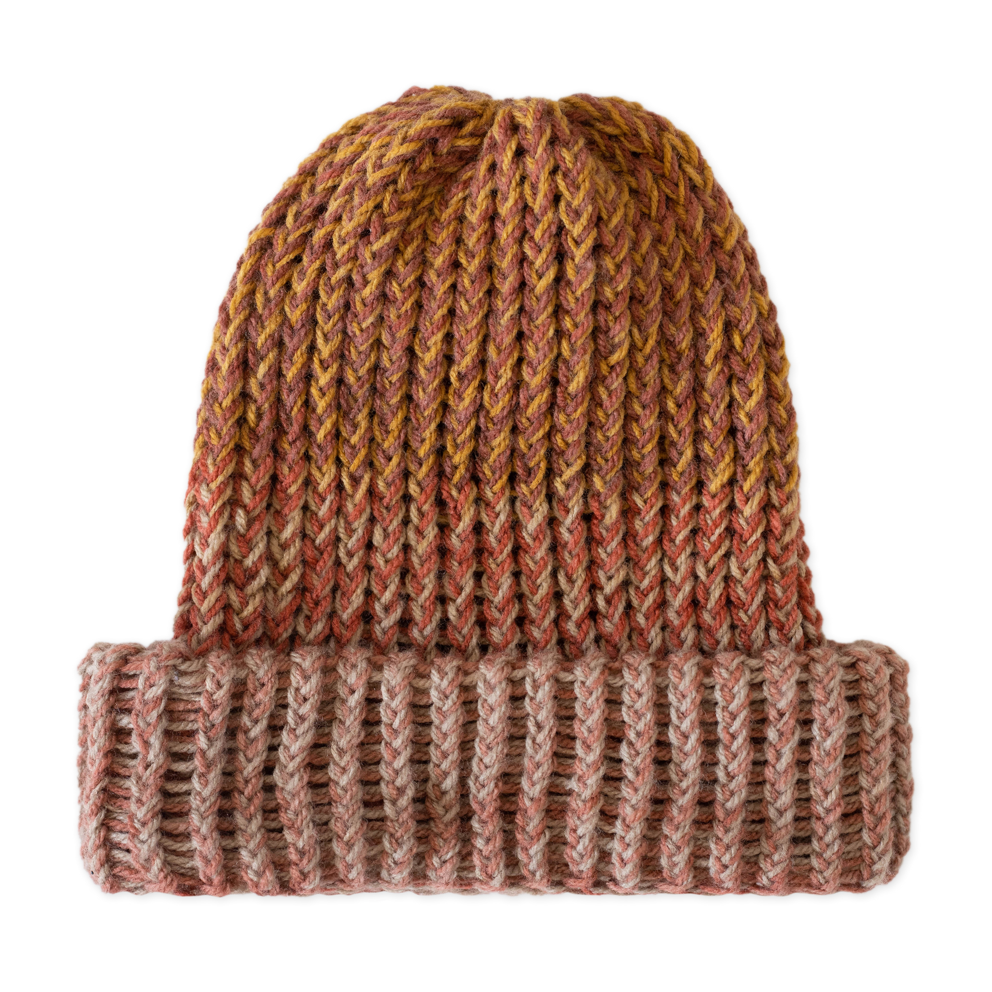 Load image into Gallery viewer, Hand Knitted Beanie Brown Marle | CHECKS DOWNTOWN