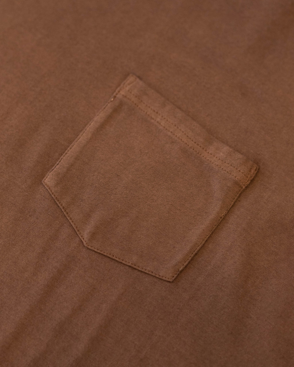 Natural Dyed Pocket Tee Mocha | CHECKS DOWNTOWN