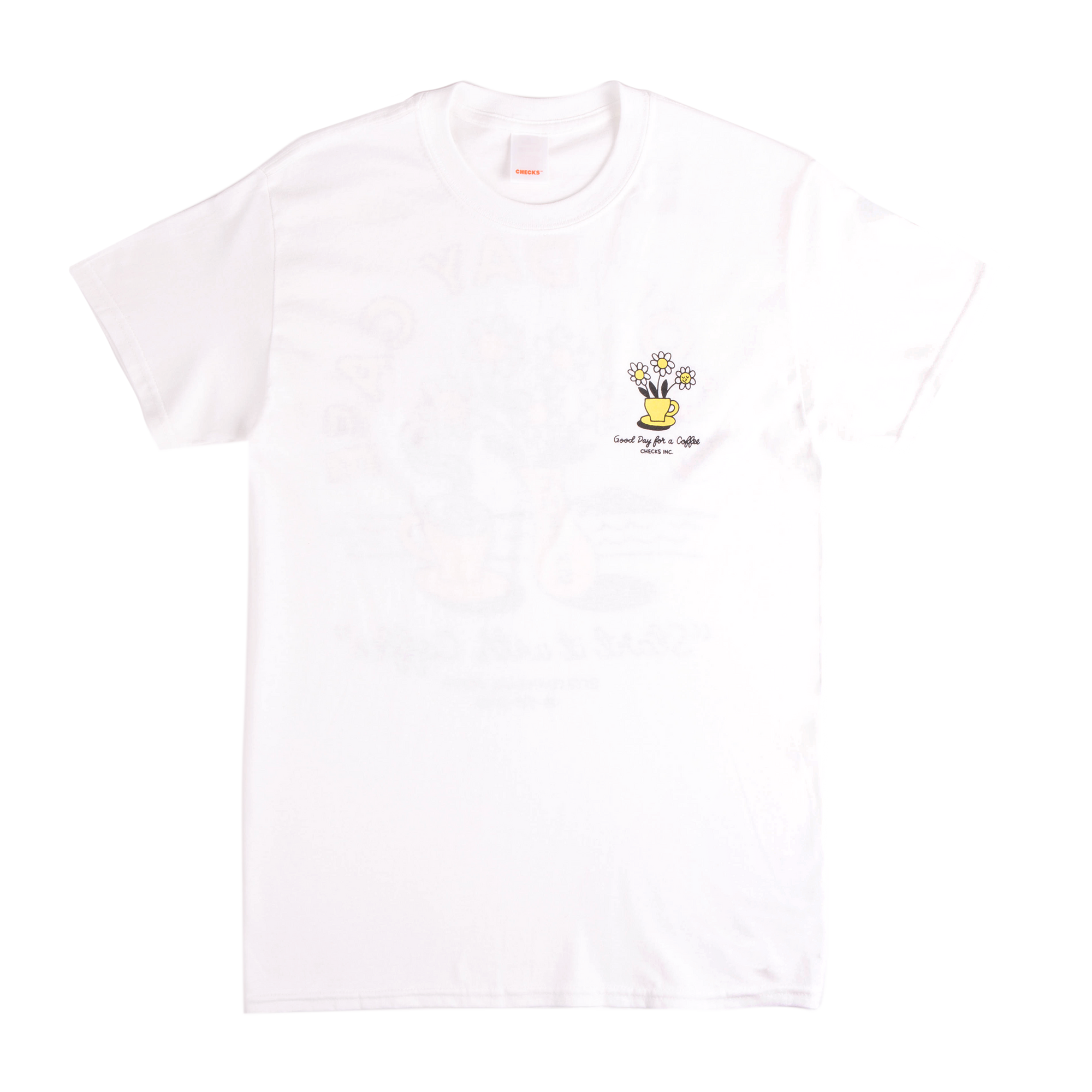 Load image into Gallery viewer, Checks x Good Day T-shirt White | CHECKS DOWNTOWN