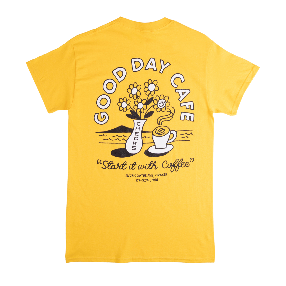 Checks x Good Day T-shirt Yellow | CHECKS DOWNTOWN