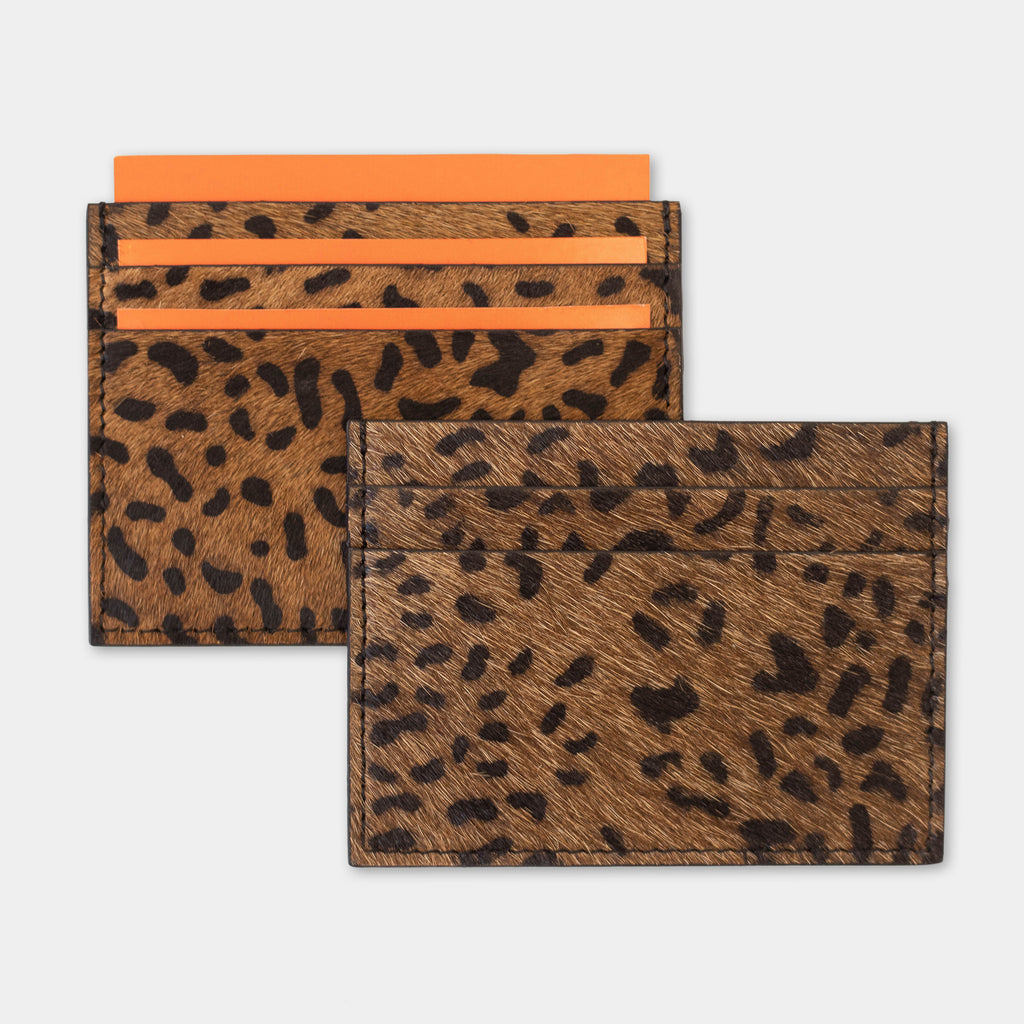 Pony Hair Cardholder Leopard | CHECKS DOWNTOWN