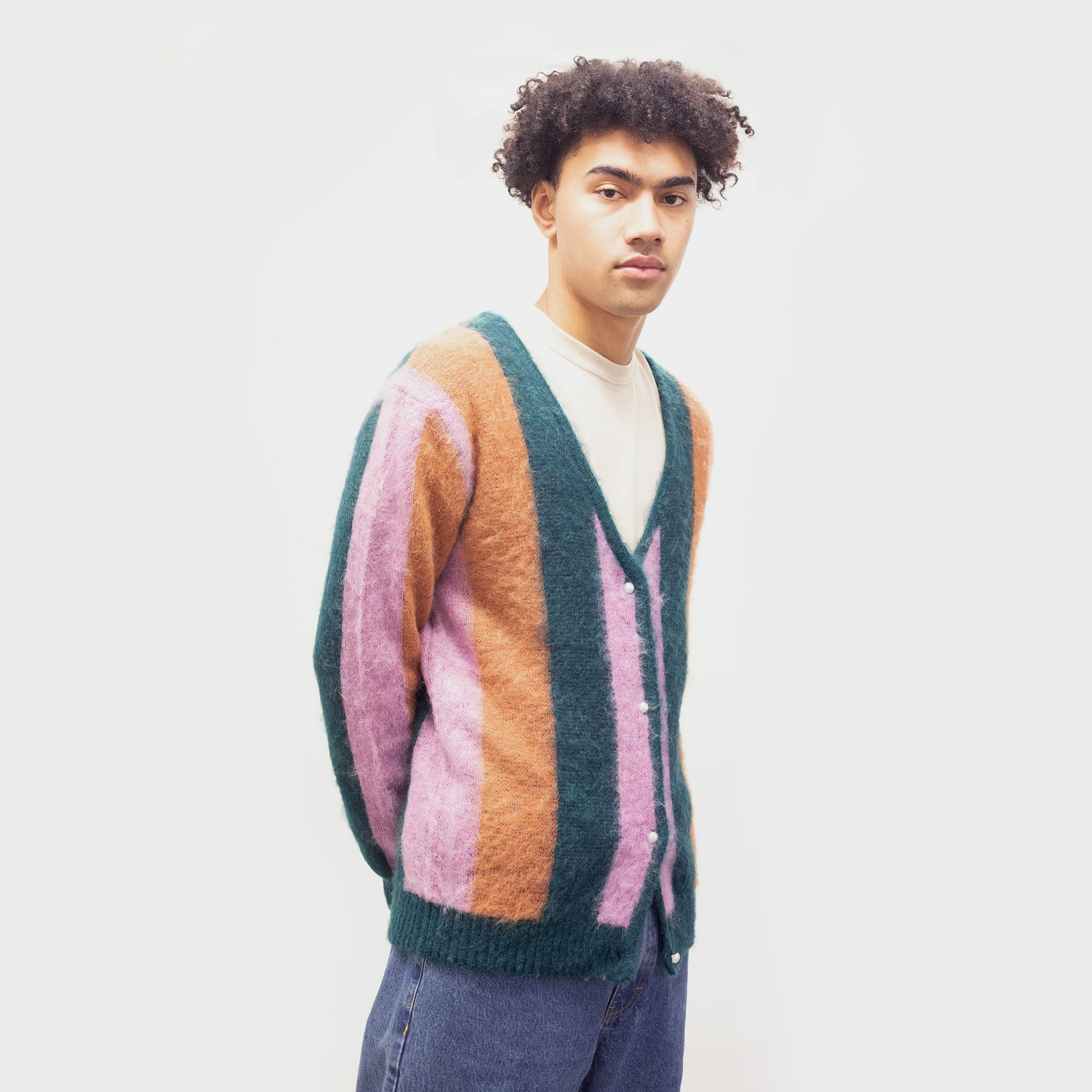 Load image into Gallery viewer, Striped Mohair Cardigan | CHECKS DOWNTOWN